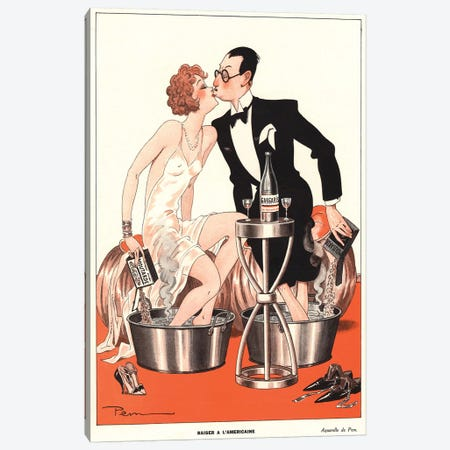 1930s Le Sourire Magazine Cover Canvas Print #TAA159} by The Advertising Archives Canvas Art Print