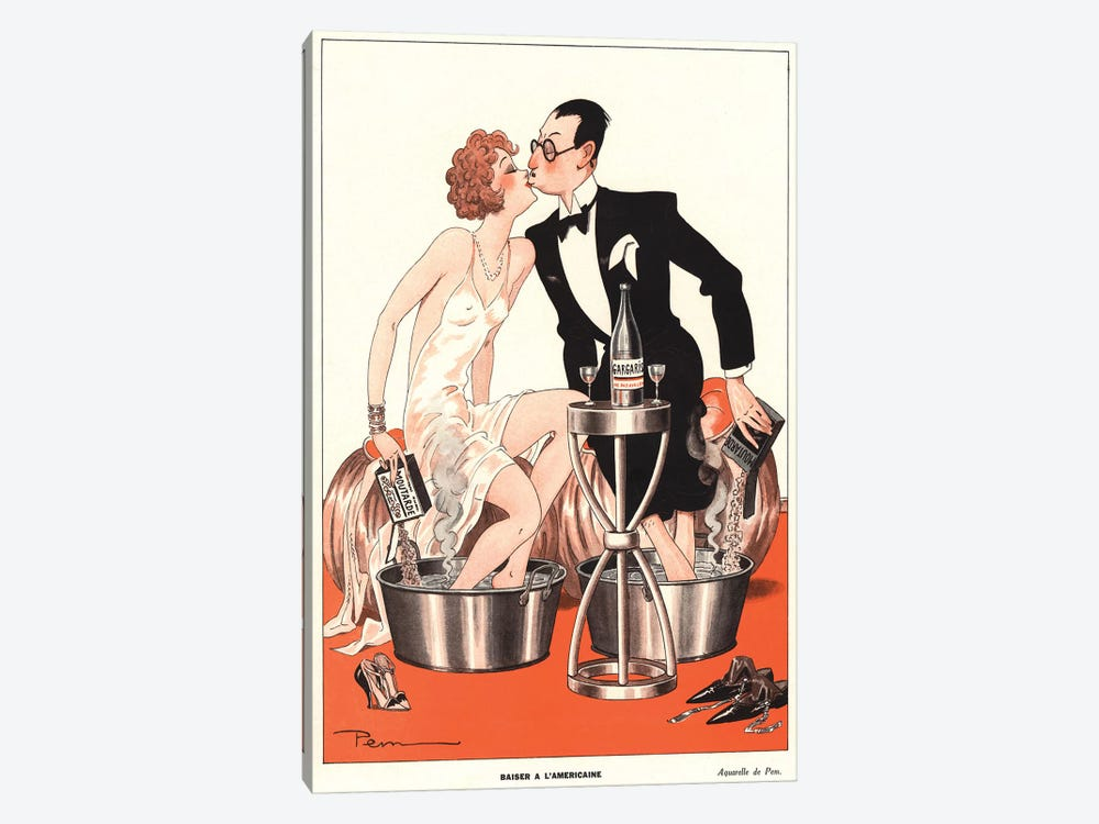 1930s Le Sourire Magazine Cover by The Advertising Archives 1-piece Canvas Art