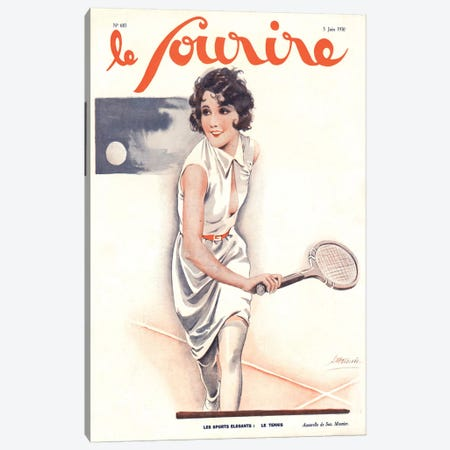 1930s Le Sourire Magazine Cover Canvas Print #TAA161} by The Advertising Archives Canvas Artwork