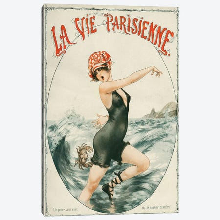 1919 La Vie Parisienne Magazine Cover Canvas Print #TAA16} by Cheri Herouard Art Print