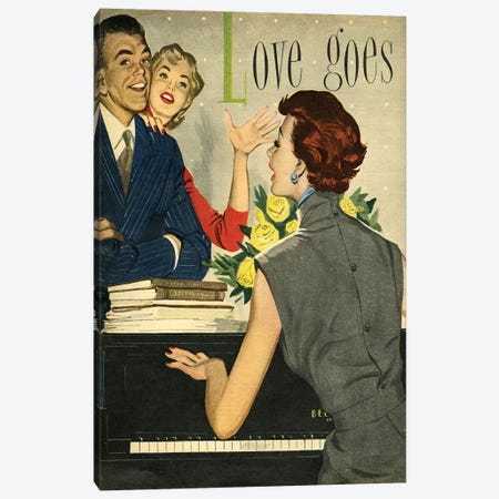 1951 Playing Pianos Magazine Plate Canvas Print #TAA177} by The Advertising Archives Canvas Wall Art