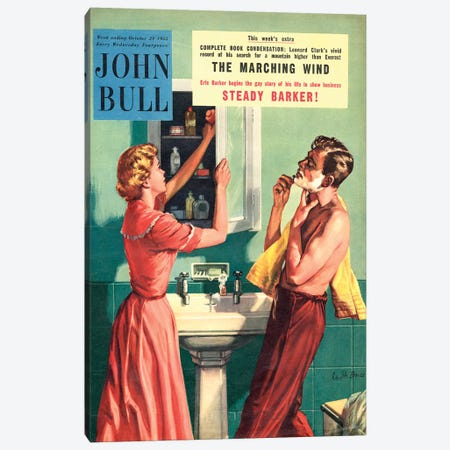 1955 John Bull Magazine Cover Canvas Print #TAA178} by The Advertising Archives Canvas Print