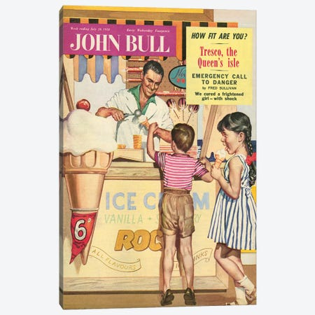 1958 John Bull Magazine Cover Canvas Print #TAA180} by The Advertising Archives Canvas Artwork