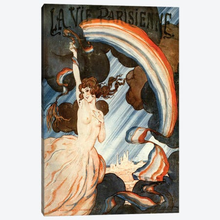 1923 La Vie Parisienne Magazine Cover Canvas Print #TAA184} by Leo Fontan Canvas Art Print