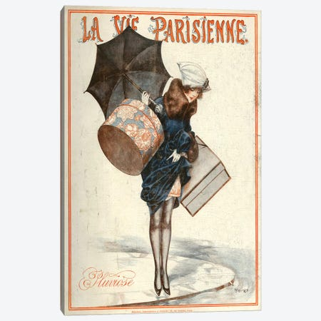 1923 La Vie Parisienne Magazine Cover Canvas Print #TAA185} by Cheri Herouard Canvas Art Print