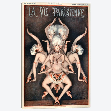 1925 La Vie Parisienne Magazine Cover Canvas Print #TAA187} by Armand Vallee Canvas Print