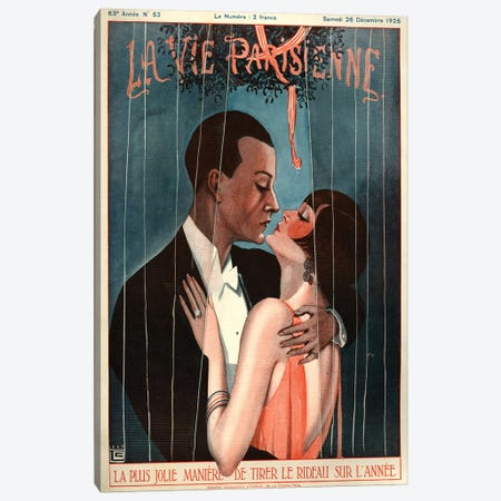 1925 La Vie Parisienne Magazine Cover Canvas Print #TAA188} by Georges Leonnec Canvas Wall Art