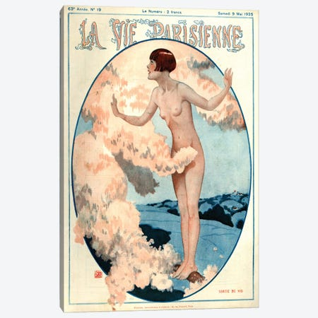 1925 La Vie Parisienne Magazine Cover Canvas Print #TAA190} by Georges Leonnec Canvas Print