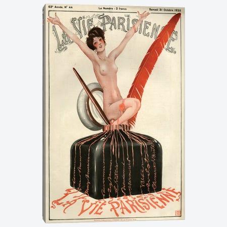 1925 La Vie Parisienne Magazine Cover Canvas Print #TAA191} by Georges Leonnec Canvas Art Print