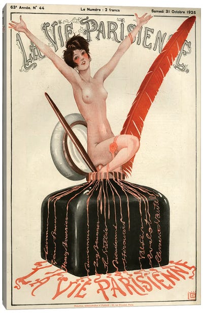 1925 La Vie Parisienne Magazine Cover Canvas Art Print