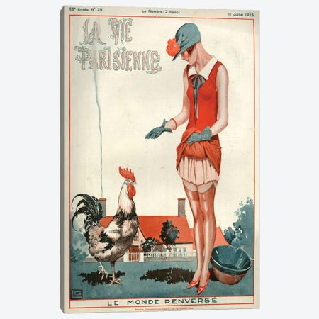 1925 La Vie Parisienne Magazine Cover Canvas Print #TAA192} by Georges Leonnec Canvas Print