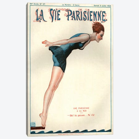 1926 La Vie Parisienne Magazine Cover Canvas Print #TAA193} by Georges Leonnec Canvas Art Print