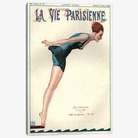 1926 La Vie Parisienne Magazine Cover Canvas Print #TAA193} by Georges Leonnec Canvas Art Print