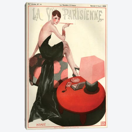 1926 La Vie Parisienne Magazine Cover Canvas Print #TAA194} by Georges Leonnec Canvas Artwork