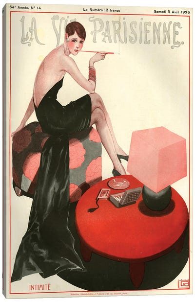 1926 La Vie Parisienne Magazine Cover Canvas Art Print