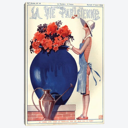 1926 La Vie Parisienne Magazine Cover Canvas Print #TAA195} by Georges Leonnec Canvas Artwork