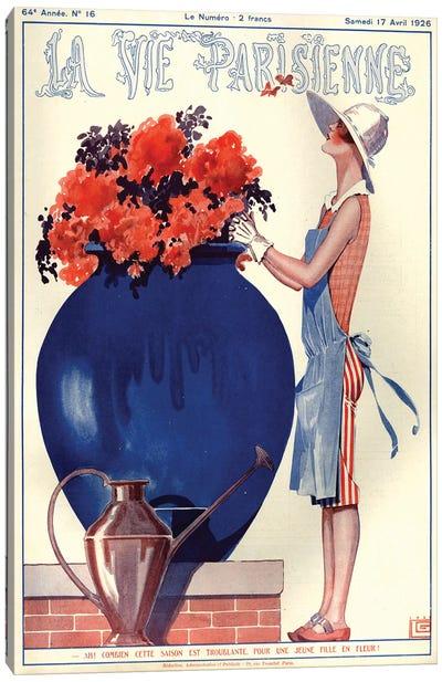 1926 La Vie Parisienne Magazine Cover Canvas Art Print