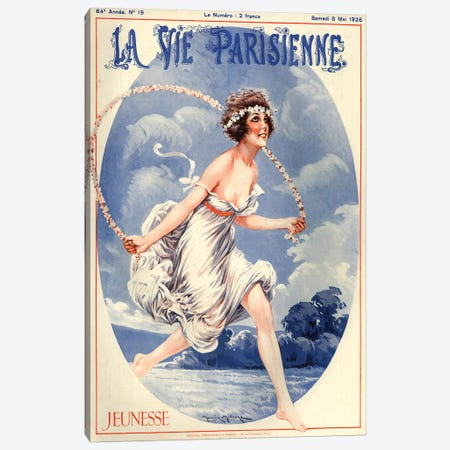1926 La Vie Parisienne Magazine Cover Canvas Print #TAA196} by Maurice Milliere Canvas Art