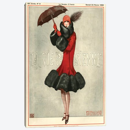 1926 La Vie Parisienne Magazine Cover Canvas Print #TAA197} by Georges Leonnec Canvas Artwork