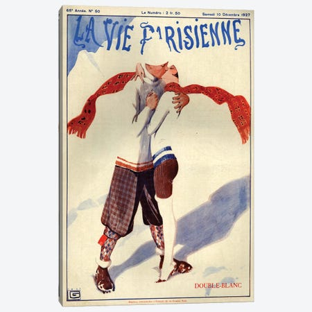 1927 La Vie Parisienne Magazine Cover Canvas Print #TAA199} by Georges Leonnec Canvas Print