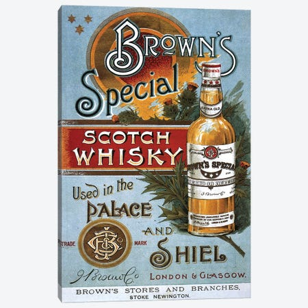 1890s Brown's Special Whisky Advert Canvas Print #TAA1} by The Advertising Archives Art Print