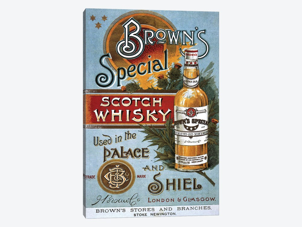 1890s Brown's Special Whisky Advert by The Advertising Archives 1-piece Canvas Artwork