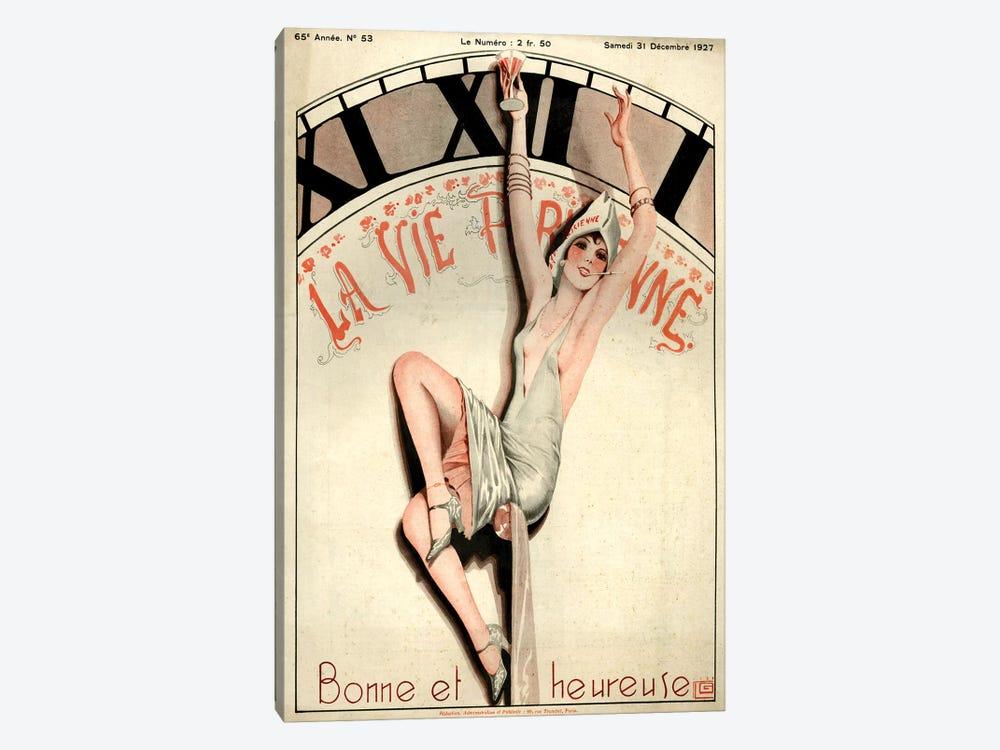 1927 La Vie Parisienne Magazine Cover by Georges Leonnec 1-piece Canvas Artwork