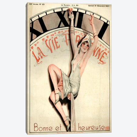 1927 La Vie Parisienne Magazine Cover Canvas Print #TAA200} by Georges Leonnec Canvas Print