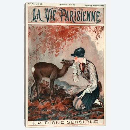 1927 La Vie Parisienne Magazine Cover Canvas Print #TAA201} by Georges Leonnec Canvas Print