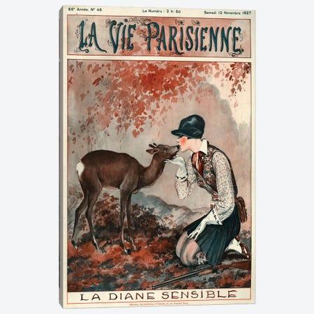 1927 La Vie Parisienne Magazine Cover Canvas Print #TAA201} by Georges Leonnec Canvas Print