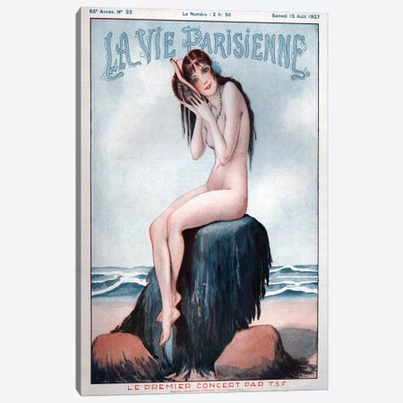1927 La Vie Parisienne Magazine Cover Canvas Print #TAA202} by Georges Leonnec Canvas Print