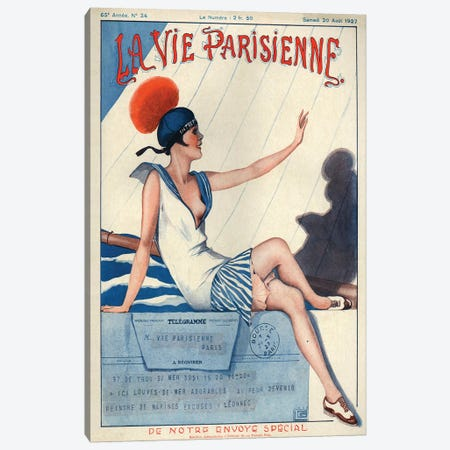 1927 La Vie Parisienne Magazine Cover Canvas Print #TAA203} by Georges Leonnec Canvas Art Print