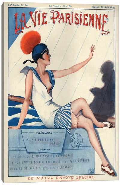 1927 La Vie Parisienne Magazine Cover Canvas Art Print