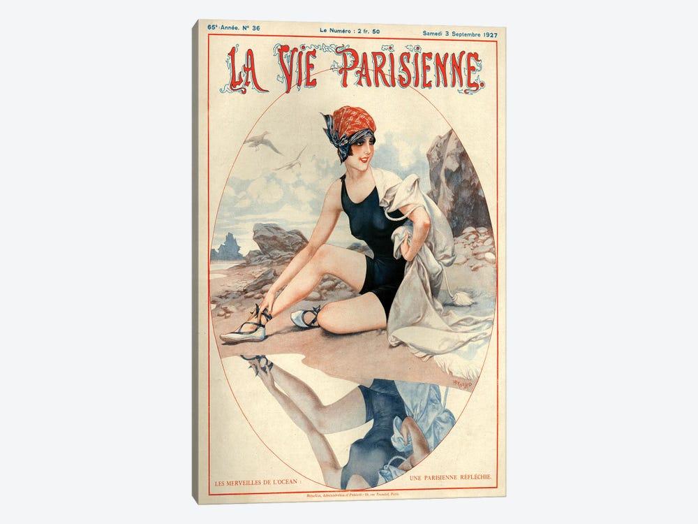 1927 La Vie Parisienne Magazine Cover by Cheri Herouard 1-piece Canvas Wall Art