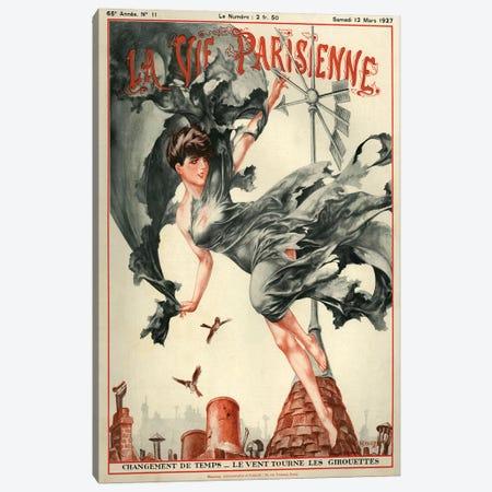 1927 La Vie Parisienne Magazine Cover Canvas Print #TAA205} by Cheri Herouard Canvas Wall Art