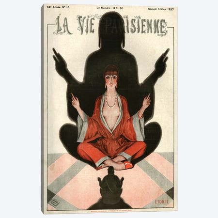 1927 La Vie Parisienne Magazine Cover Canvas Print #TAA206} by Georges Leonnec Canvas Art