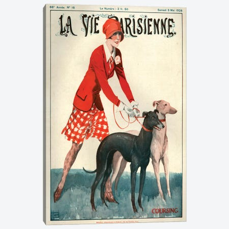 1928 La Vie Parisienne Magazine Cover Canvas Print #TAA207} by Georges Leonnec Canvas Art