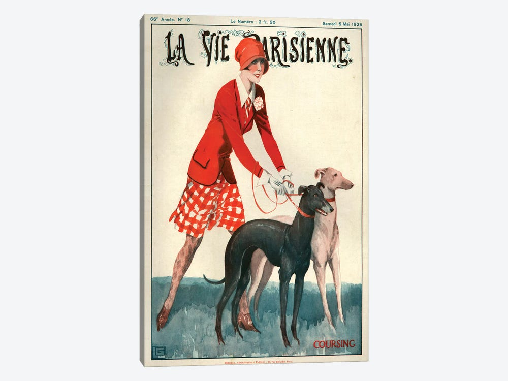 1928 La Vie Parisienne Magazine Cover by Georges Leonnec 1-piece Canvas Art Print