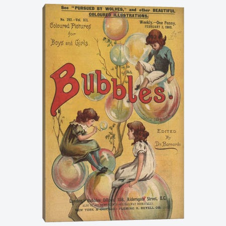 1900 Bubbles Magazine Cover Canvas Print #TAA213} by The Advertising Archives Canvas Wall Art