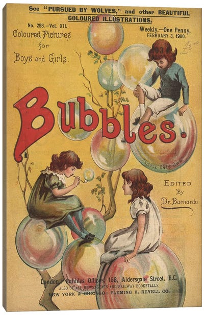 1900 Bubbles Magazine Cover Canvas Art Print