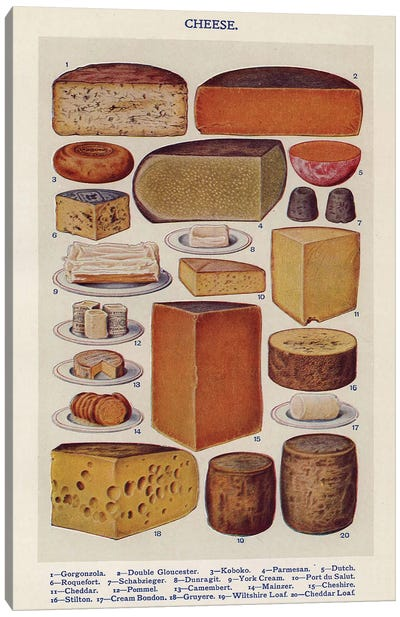 1900s Mrs Beeton's Book Of Houshold Management Canvas Art Print