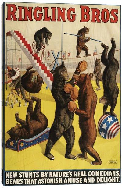 1900s Ringling Bros Circus Poster Canvas Art Print