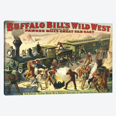 1907 Buffalo Bill's Wild West Show Poster 3-Piece Canvas #TAA217} by The Advertising Archives Canvas Print