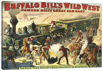 1907 Buffalo Bill's Wild West Show Poster Canvas Art Print