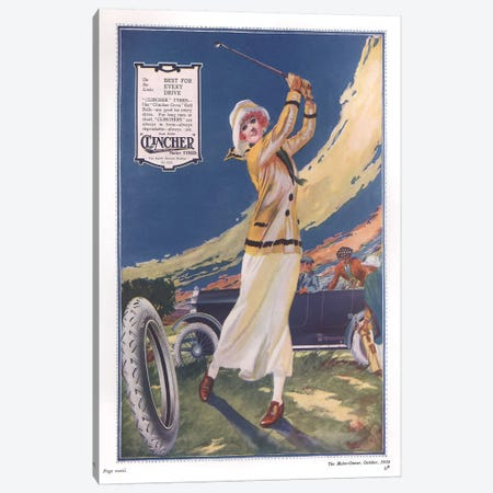 1910s Clincher Magazine Advert Canvas Print #TAA219} by The Advertising Archives Canvas Art