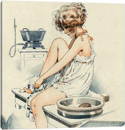 1919 La Vie Parisienne Magazine Plate Canvas Art Print