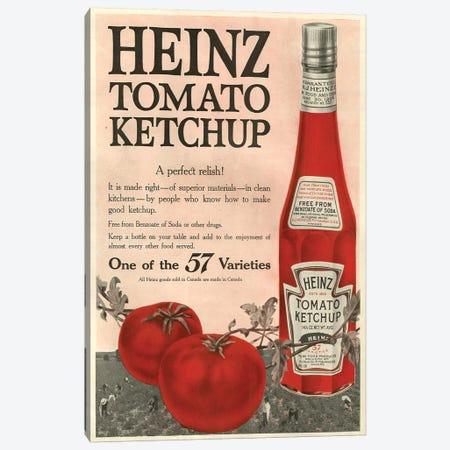 1910s Heinz Magazine Advert Canvas Print #TAA220} by The Advertising Archives Canvas Print