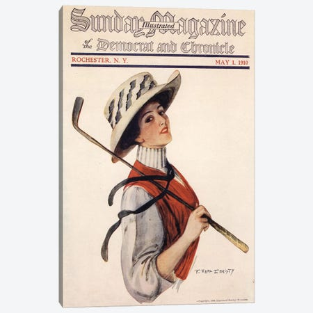 1910s Sunday Magazine Cover Canvas Print #TAA223} by The Advertising Archives Canvas Art Print