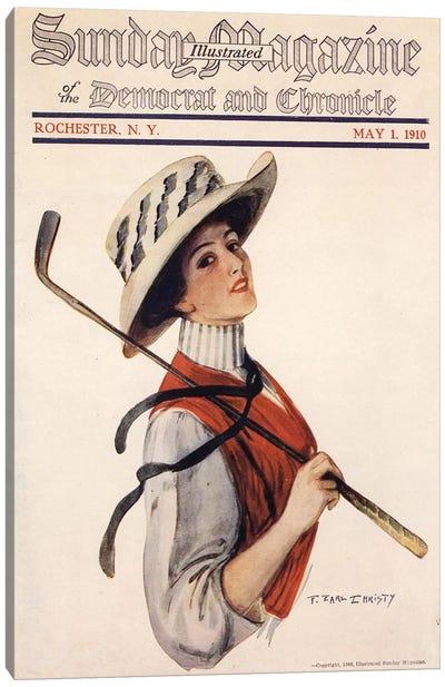 1910s Sunday Magazine Cover Canvas Art Print