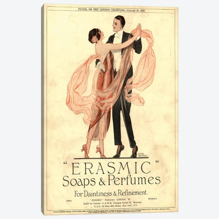 1920s Erasmic Soaps Magazine Advert Canvas Print #TAA229} by The Advertising Archives Art Print